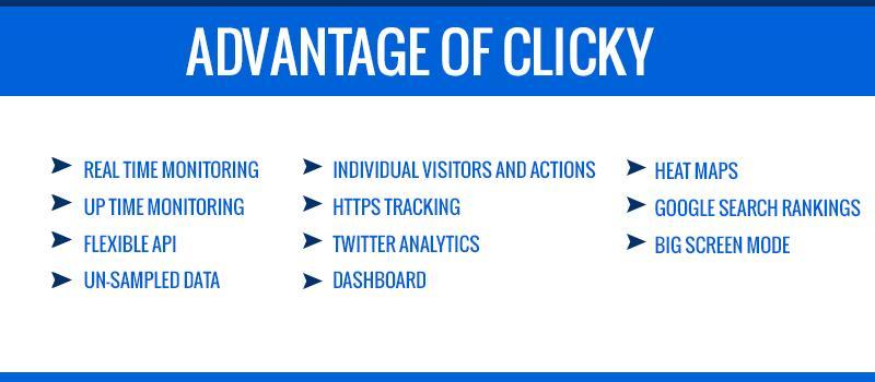 Advantage of Clicky Analytics