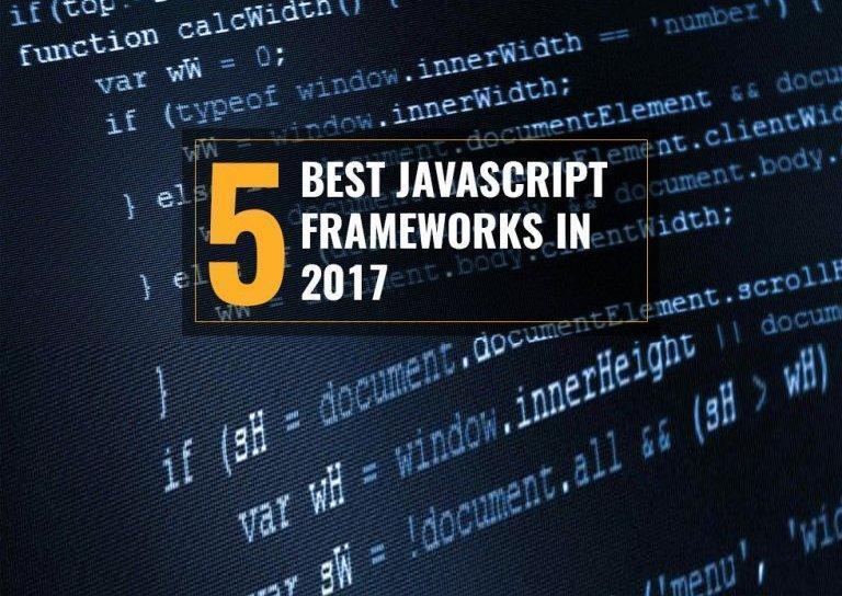 Best JavaScript Frameworks 2017