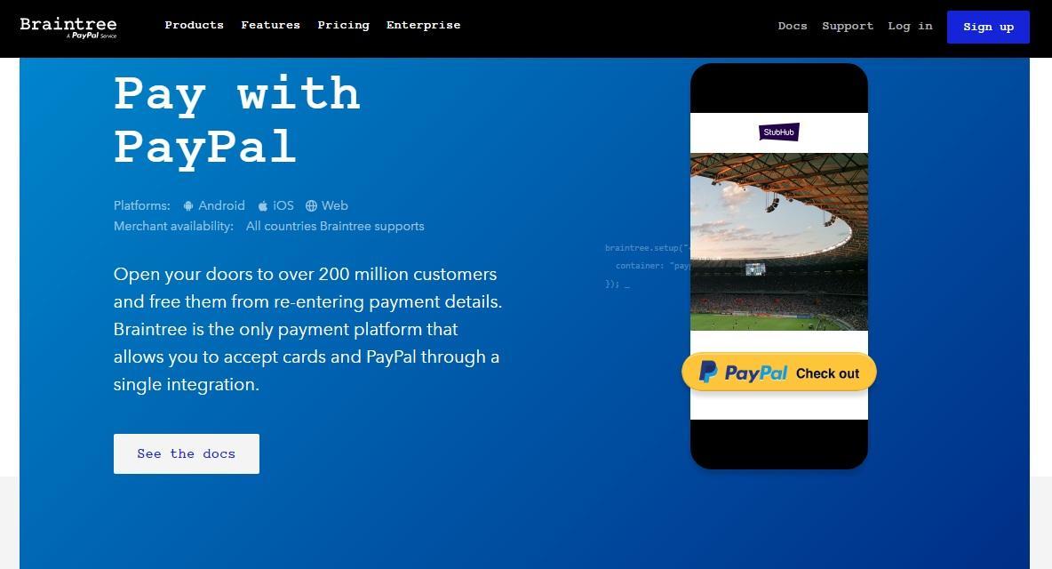 Braintree uses PayPal