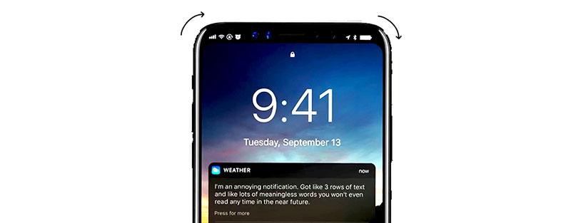 iphone x round edges