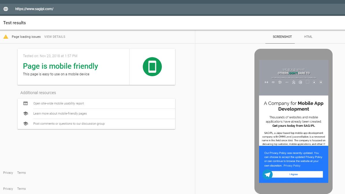 Optimize a Mobile Website