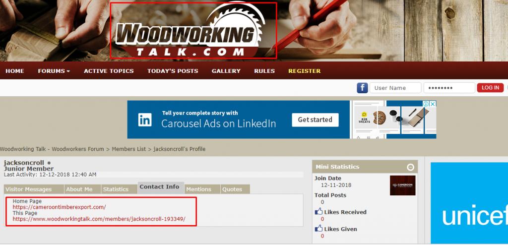 Relevant forum posting Activities