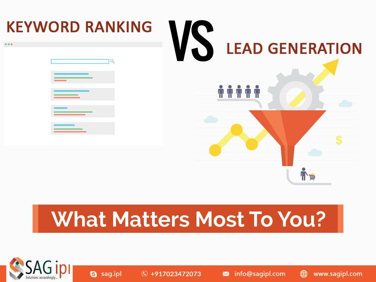 Keyword rank vs lead generation