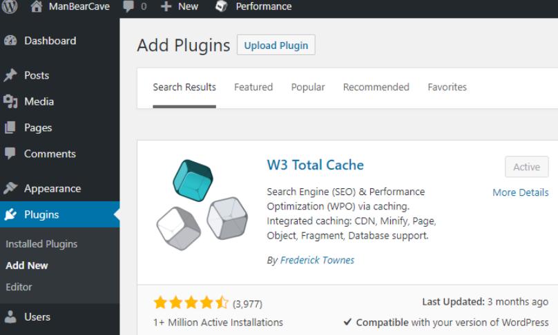 cache plugin