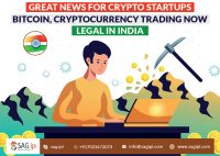 Great News for Crypto Startups: Bitcoin, Cryptocurrency Trading Legal In India
